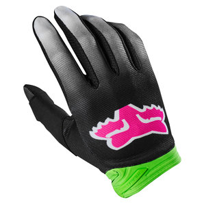 Fox Dirtpaw Fyce Handschuhe Grün Schwarz Pink FOX Motorrad