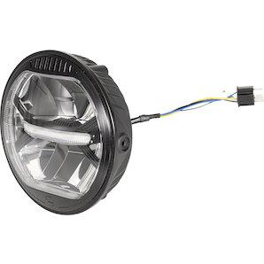 gazzini LED-Scheinwerfer 170mm- schwarz Motorrad
