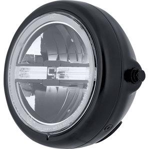 gazzini LED Scheinwerfer mit Tagfahrlicht- Schwarz Motorrad