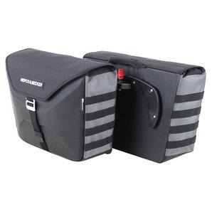 H+B Seitentasche XTravel schwarz für C-Bow System Hepco und Becker Motorrad