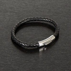 Leather Bracelet With Stainless Steal