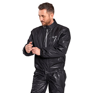 Proof Dry Light Membran-Regenjacke Damen und Herren Schwarz Motorrad