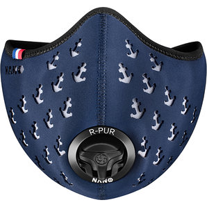 R-PUR Anti-Feinstaub Maske Ancre Blau Motorrad