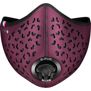 R-PUR Anti-Feinstaub Maske Bordeaux Motorrad