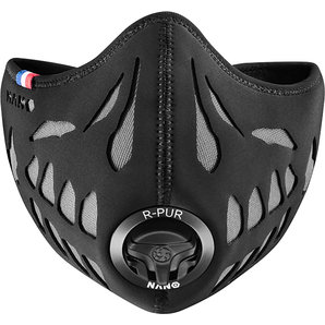 R-PUR Ghost Anti-Feinstaub Maske Schwarz Grau Motorrad