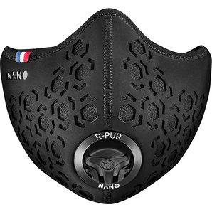 R-PUR Hexagon Anti-Feinstaub Maske Schwarz Motorrad