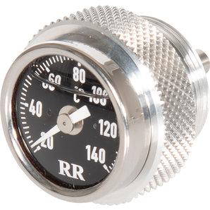 RR-Öltemperatur-Direktanzeiger für viele Fahrzeuge- Zifferblatt schwarz RR Motorrad