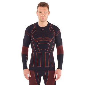 X-Bionic Moto Energizer Winter Shirt Funktionsshirt Schwarz Rot Motorrad