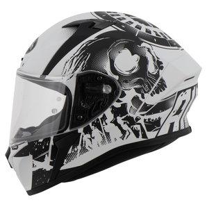 Airoh Valor Akuna Integralhelm Matt Grau Schwarz Motorrad