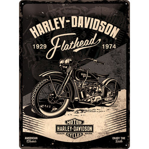 blechschild harley davidson flathead wellblech ma e 30x40 cm kaufen louis motorrad freizeit. Black Bedroom Furniture Sets. Home Design Ideas