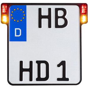HeinzBikes Kennzeichenhalter All-In-One 2-0 Blinker-Bremslicht-Rücklicht Motorrad