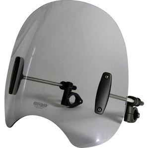 MRA Roadshield Windschutzscheibe inkl- 28-32 mm Haltesatz- rauchgrau Motorrad