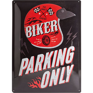 "Blechschild ""Biker Parking Only"""