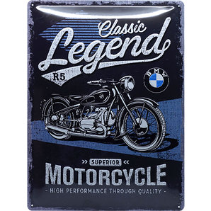 "Metal Sign BMW ""Legend"""