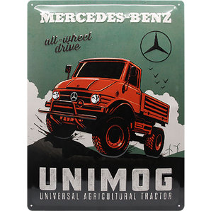 Mercedes Benz Unimog >> Retro Metal Sign Mercedes Benz Unimog Size 30x40cm