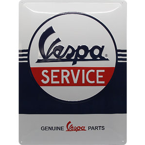 Blechschild Vespa Logo Maße: 40 x 30 cm