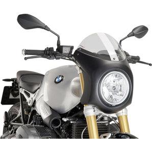 Puig Retro Lenkerverkleidung mit ABE schwarz lackiert- getönte Scheibe Motorrad