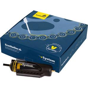 Scottoiler V-System Ketten-Schmiergerät und Öl Motorrad