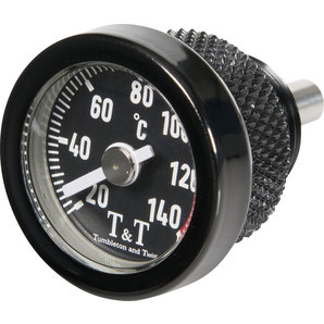 TundT Öltemperaturanzeiger schwarz Tumbleton and Twist Motorrad