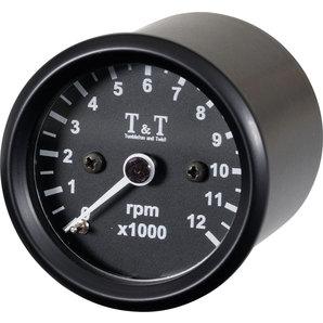 TundT elektronischer Drehzahlmesser 48mm- LED-Beleuchtung Tumbleton and Twist Motorrad