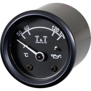 TundT Öltemperatur-Anzeige 48mm- elektronisch- schwarz Tumbleton and Twist Motorrad