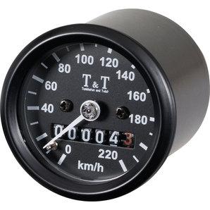 TundT mechanischer Tachometer -220 KM-H- k-Wert 1-4- M12 Tumbleton and Twist Motorrad