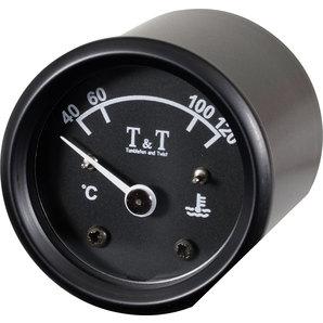 TundT Wassertemperaturanzeige 48 mm- schwarz Tumbleton and Twist Motorrad