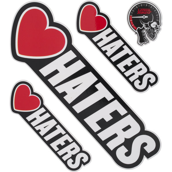 AUFKLEBER LOVE HATERS
