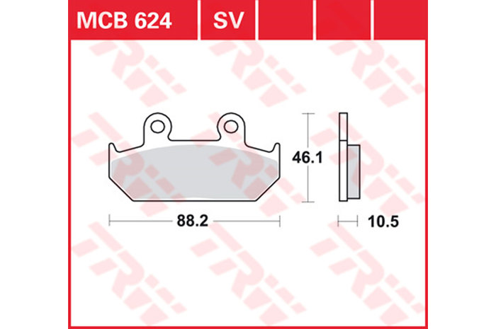 vorne 93/ Lucas TRW Bremsbel/äge MCB 624/F/ür HONDA VT 600/C PC21/89