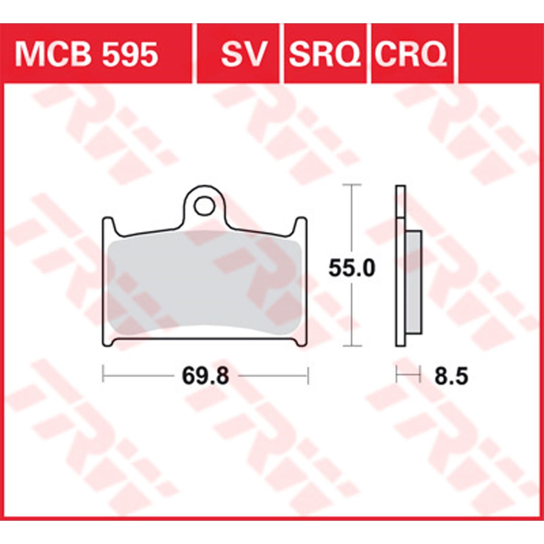 TRW Lucas Bremsbeläge MCB602 vorne Suzuki SV 1000 S2