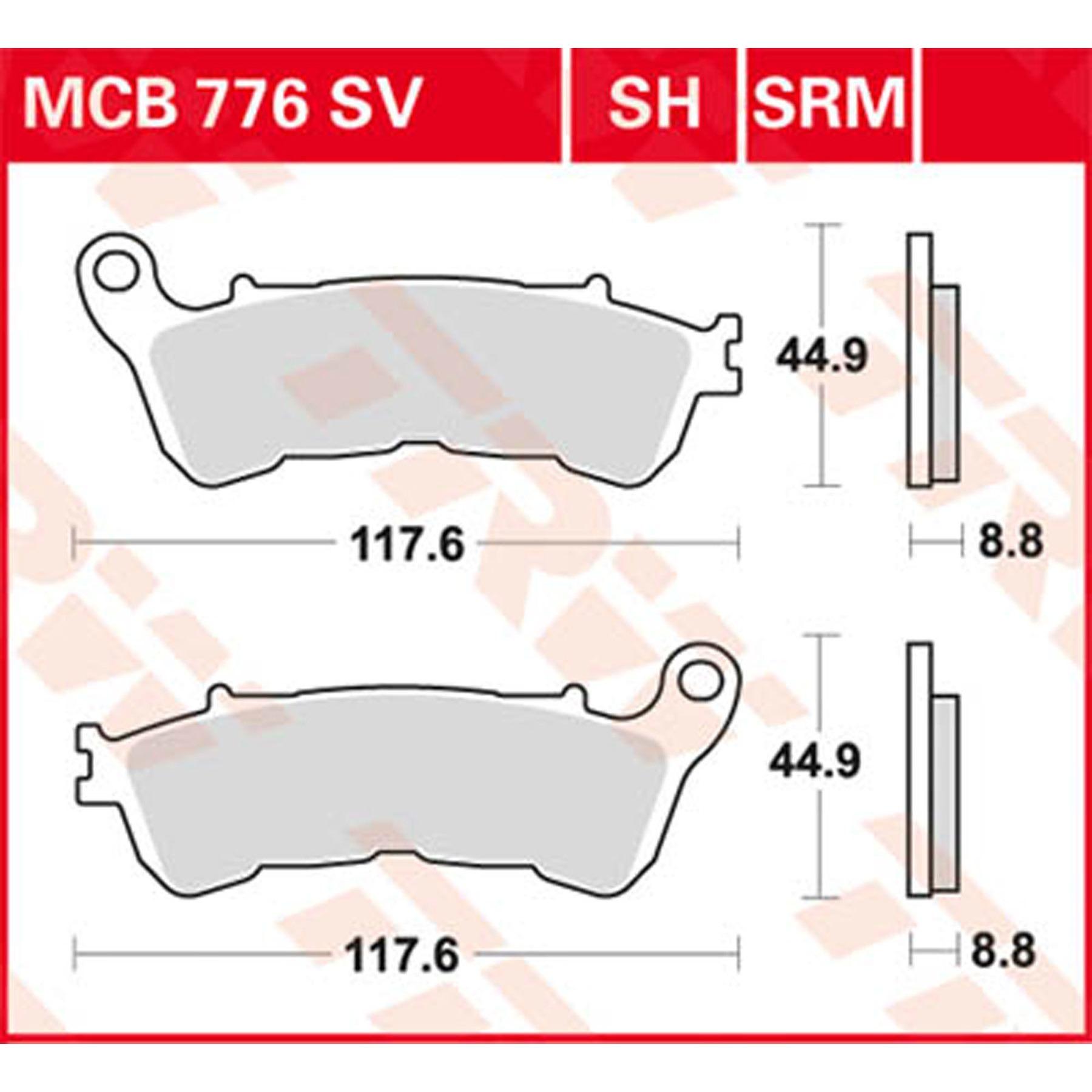 Plaquettes de frein TRW MCB 627