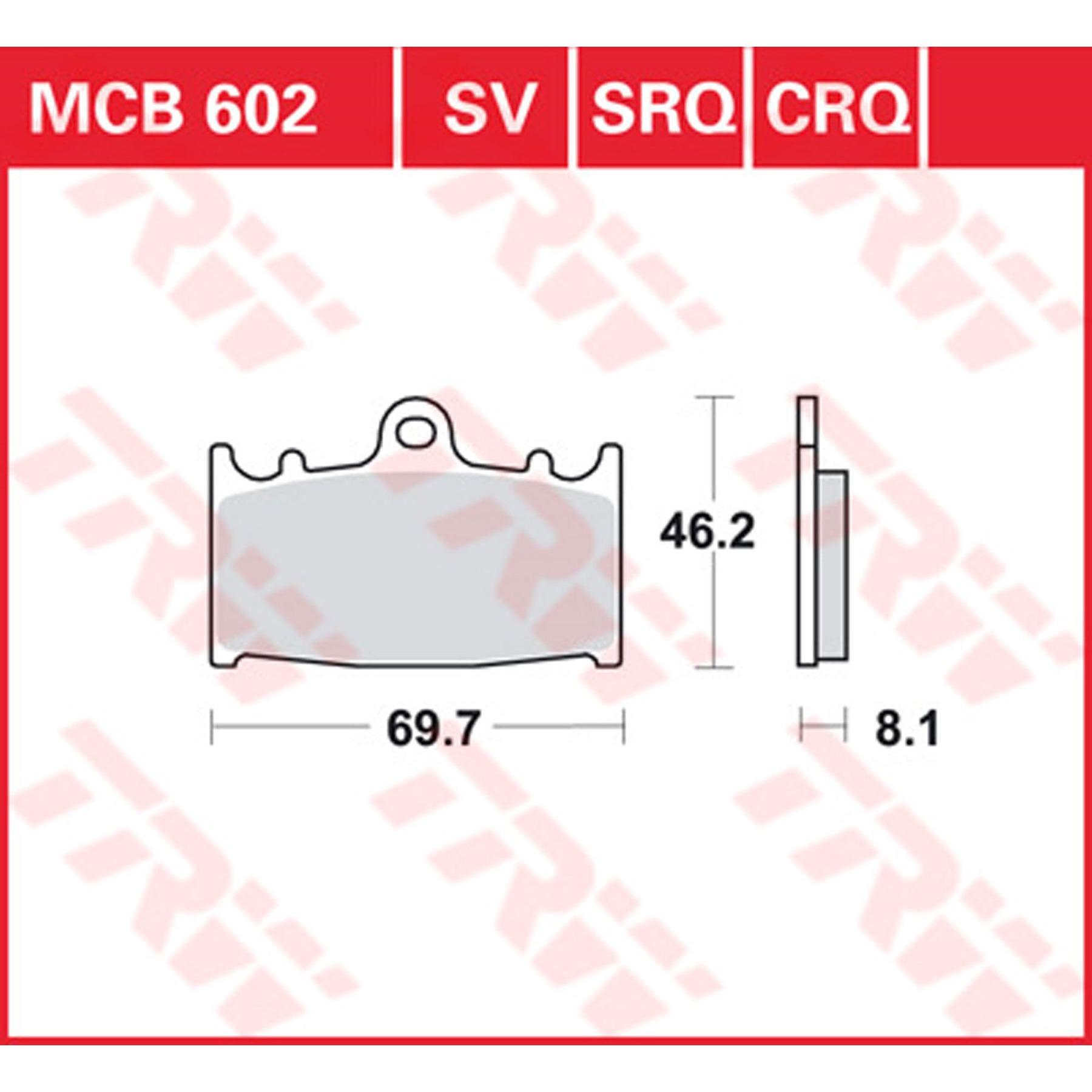 TRW//Lucas Scheibenbremsbeläge MCB 721 CRQ ohne ABE  4er Set