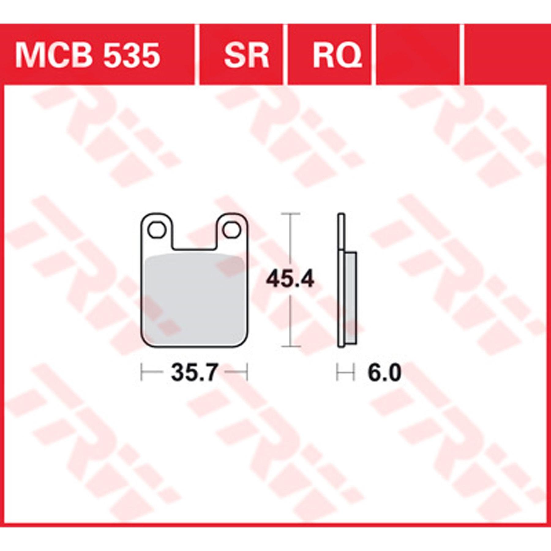Offroad Bremsbelag Lucas MCB672EC organisch f/ür Roller Scooter