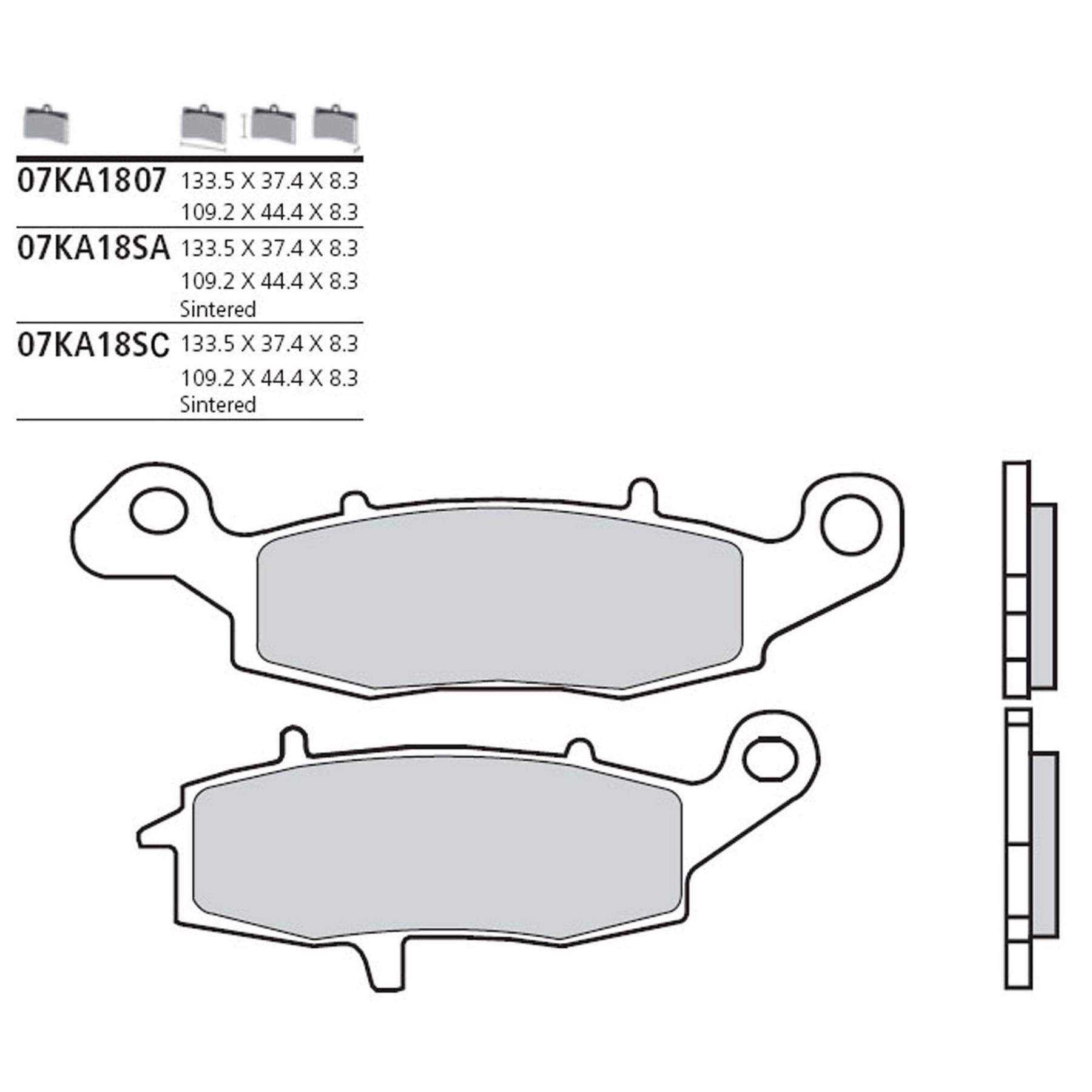 BREMBO 4x Bremsbeläge Bremsbelagsatz Hinten