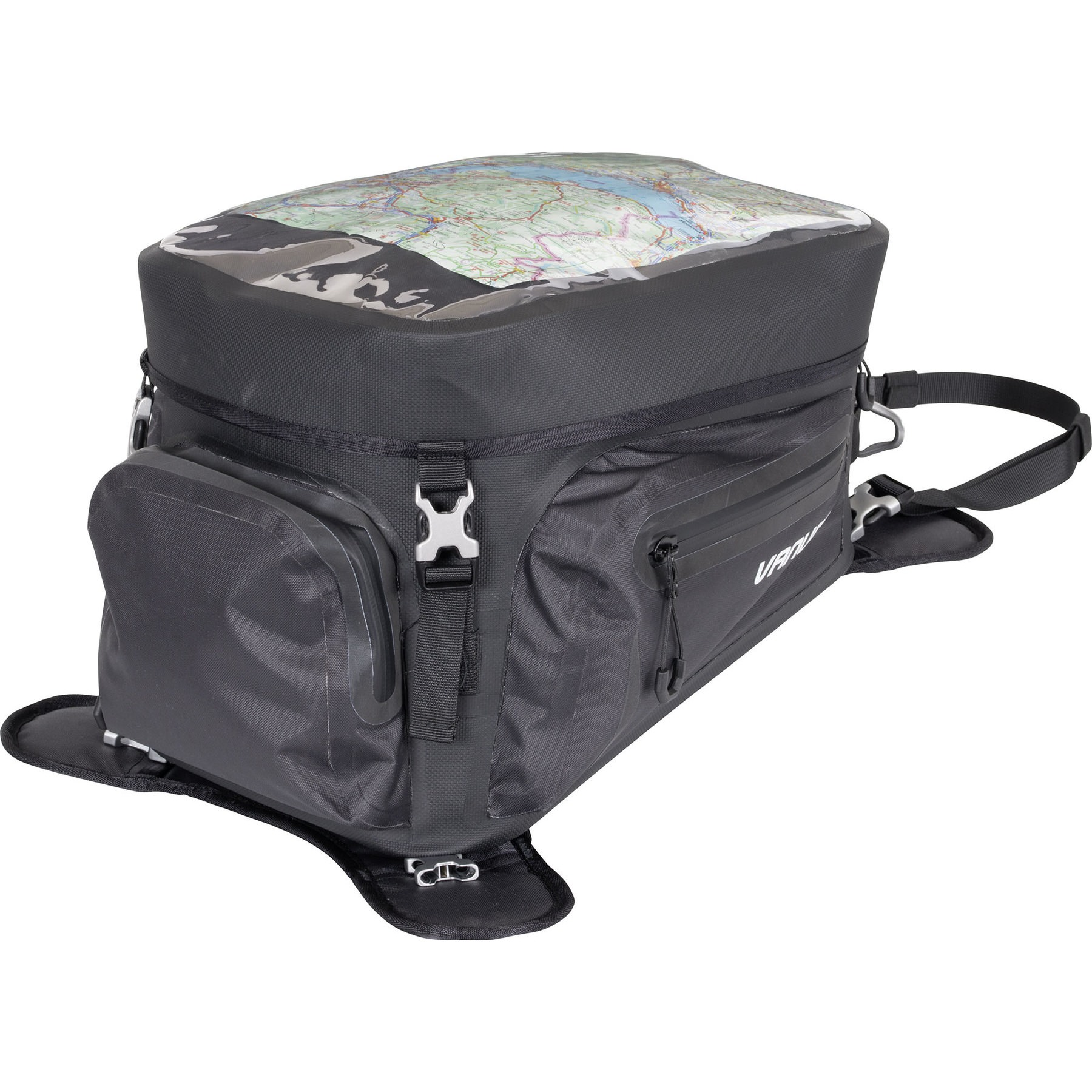 Motorbike Tank Bag Motorcycle Fuel Saddle Tank Package Universal Waterproof Riding Organizer With Strong Magnetic Navigator GPS And Phone Holder Outdoor For All Types Of Fuel Tank