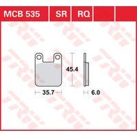 TRW BRAKE-PADS ORGAN. MCB 535 EC