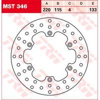TRW BRAKE-DISC, REAR MST346, FIXED