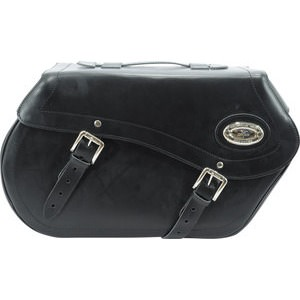 Saddlebags, real leather