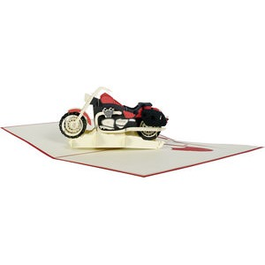 3D Motorcycle Pop-up Folded Card