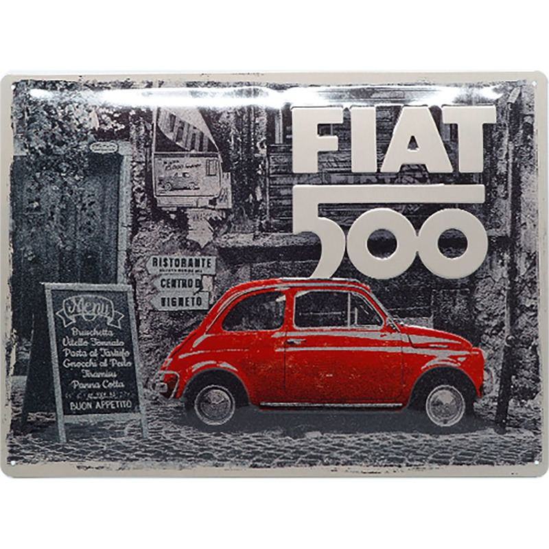 BLECHSCHILD FIAT 500