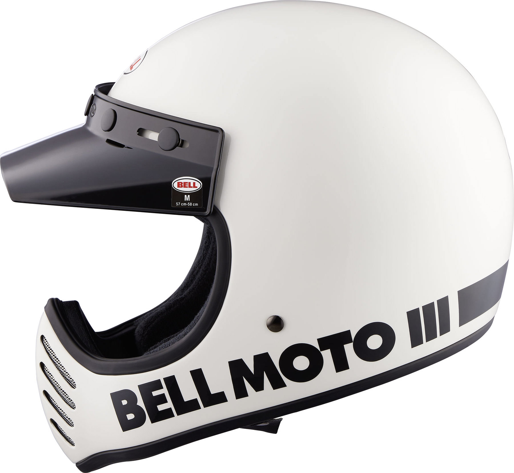 Buy Bell Moto 3 Gloss White Classic Motocross Helmet Louis Motorcycle Clothing And Technology