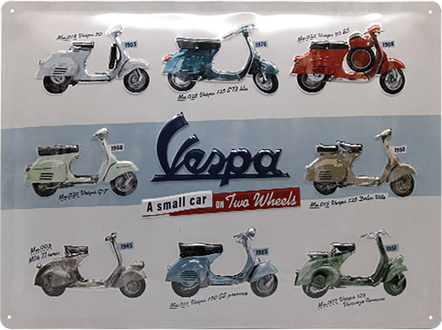 Buy Metal Sign Vespa Logo Size 40 X 30 Cm Louis Motorcycle Clothing And Technology