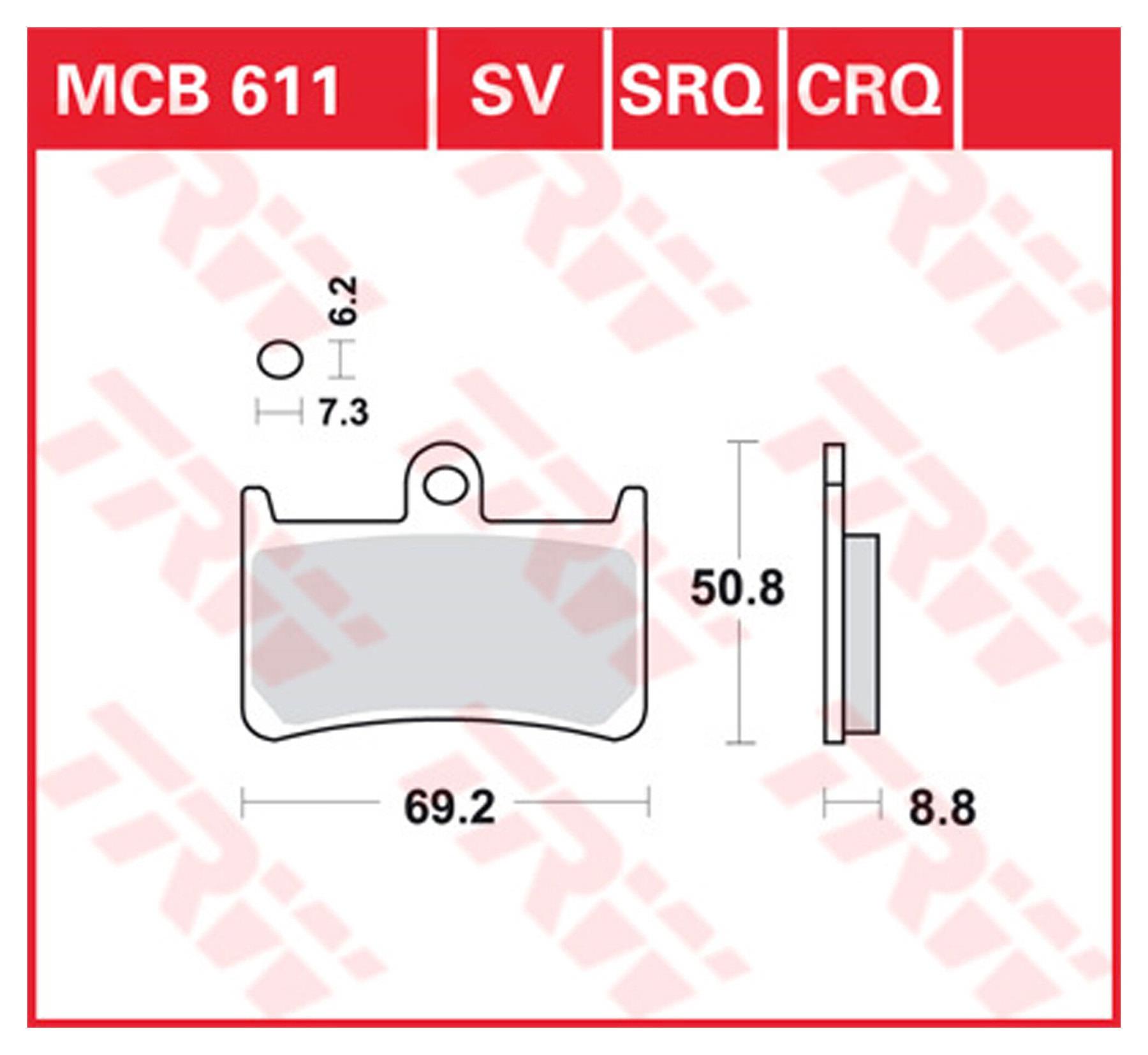 vorne Lucas Bremsbel/äge TRW MCB669SV f/ür HONDA XR 125/L JD19 03-