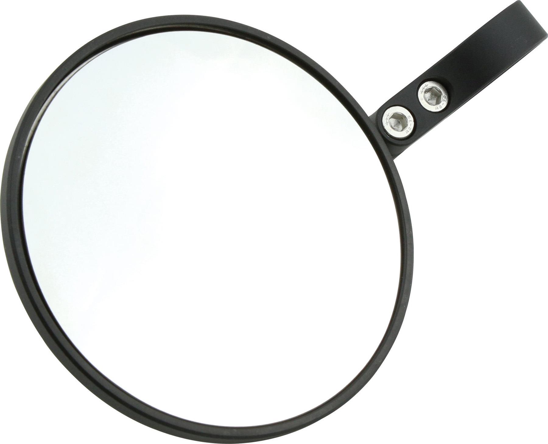 schwarz E-geprüft 1 Stück Motorrad Spiegel Lenkerendenspiegel PONZA