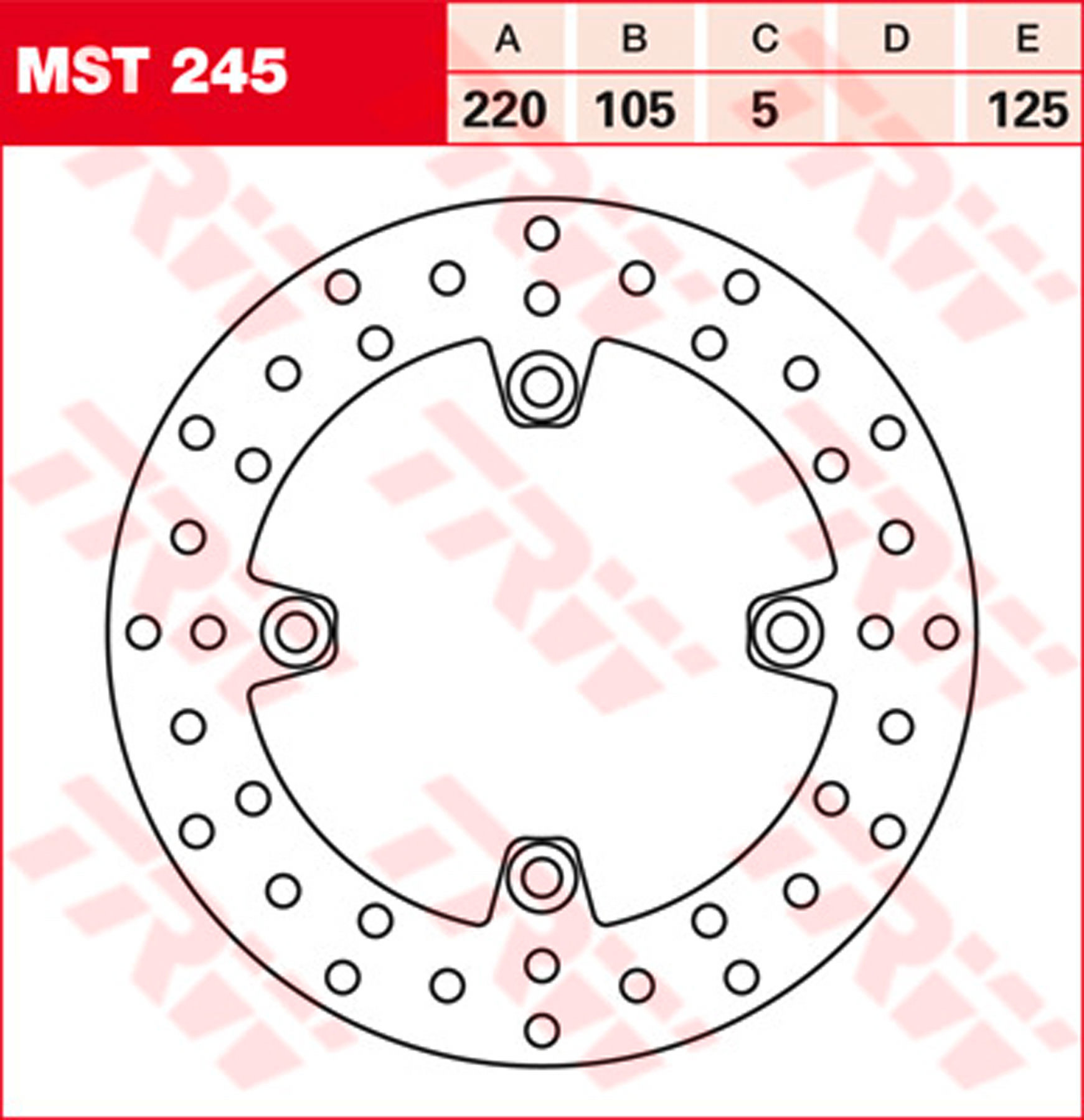 TRW Bremsscheibe MST330 TRW-Lucas