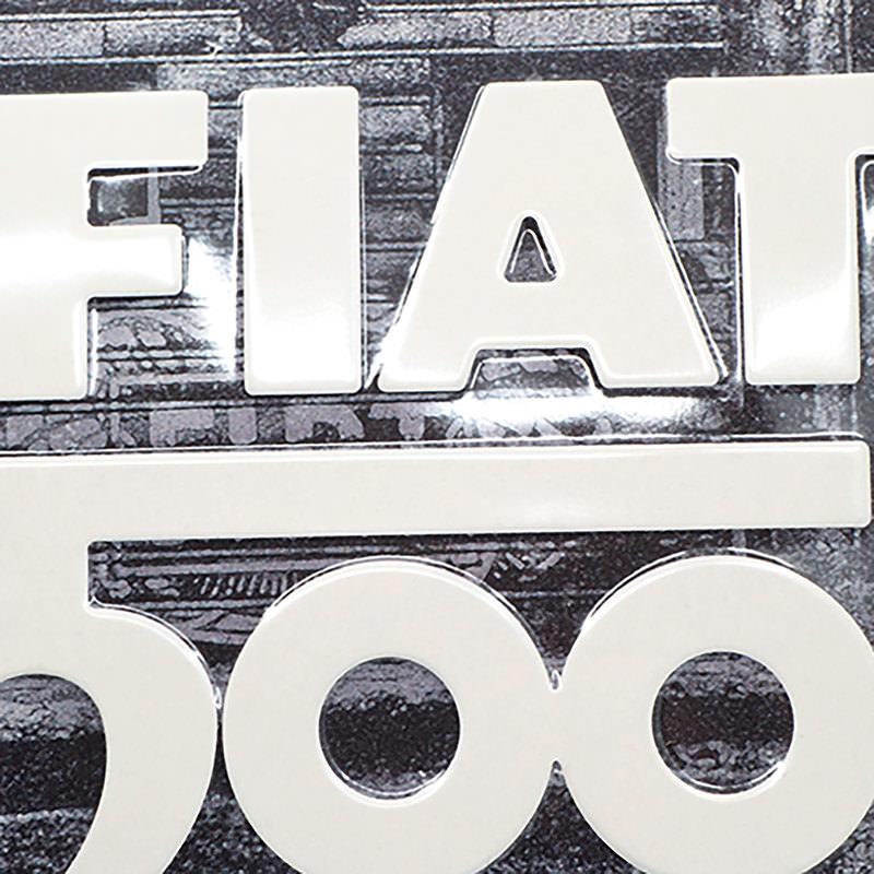 METAL SIGN FIAT 500