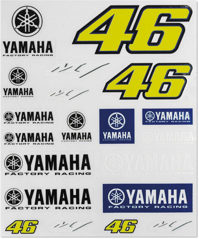YAMAHA VR46 AUFKLEBER-SET