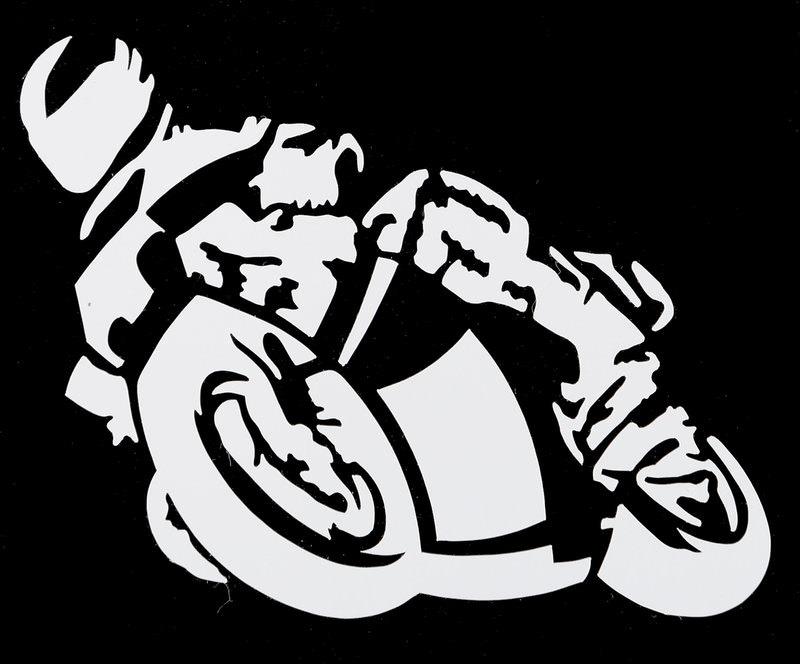 AUFKLEBER MOTORRAD WEISS
