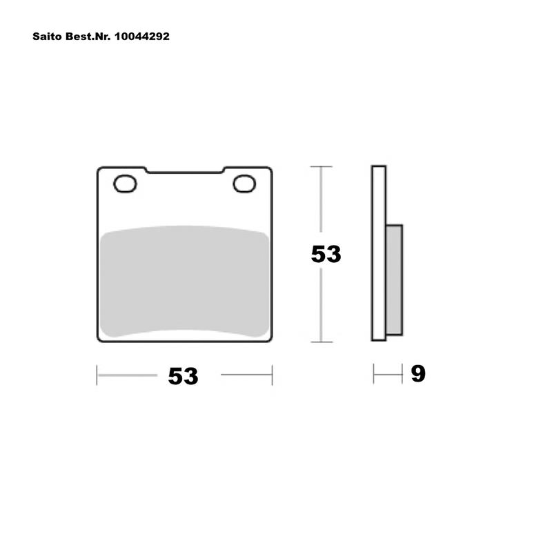 SAITO BRAKE-PADS ORGANIC