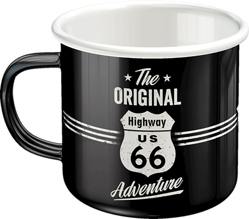 EMAILLE BECHER *ROUTE 66*
